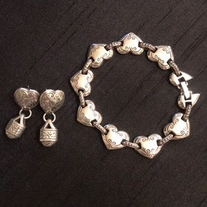 Brighton heart earring and bracelet set